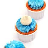 Süße Nahaufnahme der Feiertagsbuffet-kleinen Kuchen Lizenzfreies Stockfoto
