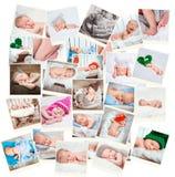 Süße neugeborene Babyfotos lizenzfreies stockbild