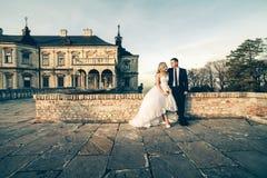 Süße Paar-Hochzeit Stockbild