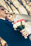 Süße Paar-Hochzeit Stockbilder
