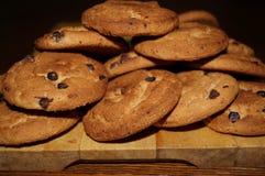 Süße Plätzchen mit Schokolade Stockbilder