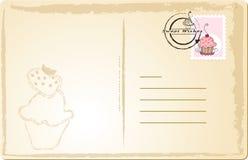 Süße Postkarte Stockbild