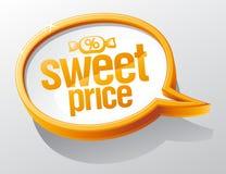 Süße Preisspracheblase lizenzfreie abbildung