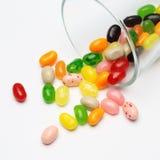 Süße Süßigkeitsgeleebonbons im Glas dieses bunt stockfotos