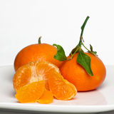Süße saftige Klementinen. Zitrusfrucht Reticulata. Stockbild