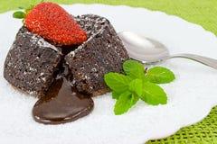 Süße sahnige Schokolade Stockbild