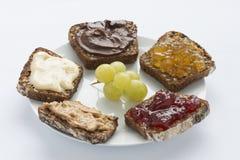 Süße Sandwiche für das Mittagessen Lizenzfreies Stockfoto