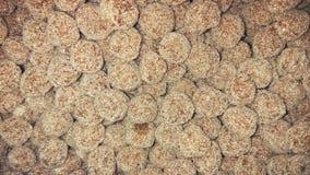 Süße saure Süßigkeit der runden Tamarinde Stockfotos