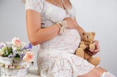Süße Schwangerschaft Stockbild