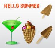 Süße Sommererfrischung lizenzfreie abbildung