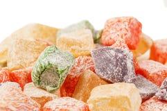 Süße türkische Freude (lokum) Stockfotos