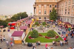 Süße Tage - Schokoladen-und Süßigkeits-Festival in Budapest, Ungarn Lizenzfreie Stockfotografie