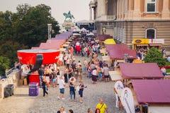 Süße Tage - Schokoladen-und Süßigkeits-Festival in Budapest, Ungarn Lizenzfreie Stockfotos