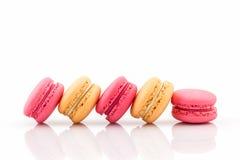Süße und bunte französische macarons stockfotos