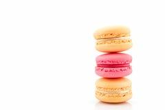 Süße und bunte französische macarons stockbild
