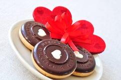 Süße Valentinstagplätzchen lizenzfreies stockfoto