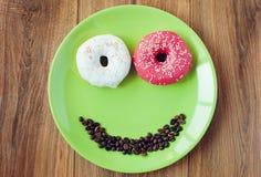 Süßer Donut zum ein Morgenfrühstück Stockbild