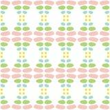 Süßer Frühling farbiges nahtloses Muster des Zusammenfassungsvektors Moderne stilvolle Beschaffenheit des Wiederholens von geo vektor abbildung