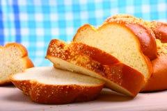Süßer gebackener Brot Challah Lizenzfreie Stockfotos