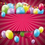 Süßer Geburtstagshintergrund lizenzfreie abbildung