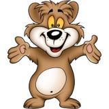 Süßer glücklicher Bär Lizenzfreies Stockfoto