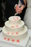 Süßer Hochzeitskuchen Stockfoto