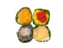 Süßer klebriger Reis mit Garnelenbelag Lizenzfreie Stockfotografie