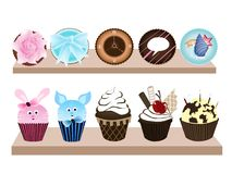 Süßer kleiner Kuchen 2 Lizenzfreie Abbildung