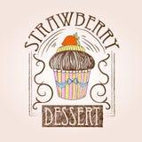 Süßer Kuchen Dekorative Skizze lizenzfreie abbildung
