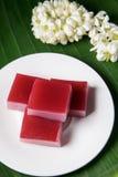 Süßer Kuchen der thailändischen traditionellen Schicht Lizenzfreie Stockbilder