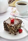 Süßer Kuchen gedient Stockbild