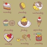 Süßer Kuchen-Hintergrund Stockbilder