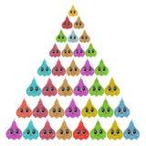 Süßer Kuchen mit Augen Spielcharakter pyramide Stockbild
