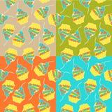 Süßer Kuchen Nahtloses Muster Vektor Stockfotografie