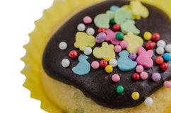 Süßer Kuchen Ostern in der Glasur Stockfotografie