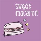 Süßer macaron Hintergrund mit Herzen lizenzfreie abbildung