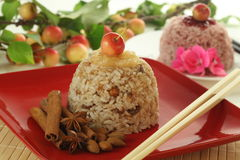 Süßer Reis und Äpfel lizenzfreie stockfotos