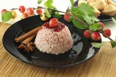 Süßer Reisnachtisch stockbild