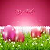 Süßer rosa Ostern-Hintergrund lizenzfreie abbildung