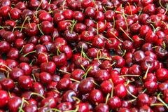 Süßer roter Kirschhintergrund Lizenzfreies Stockfoto
