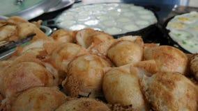 Süßer thailändischer Kokosnuss-Pfannkuchen Lizenzfreie Stockfotos