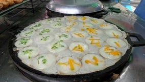 Süßer thailändischer Kokosnuss-Pfannkuchen Lizenzfreies Stockfoto