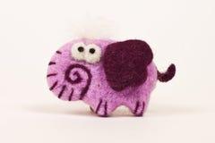 Süßer und weicher rosa Elefant Lizenzfreie Stockbilder