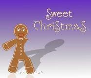 Süßer Weihnachtslebkuchen lizenzfreie abbildung