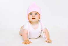 Süßes Baby im Hut Stockbild