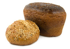 Süßes Brot und braunes Brot Lizenzfreie Stockfotos