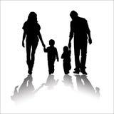 Süßes Familien-Schattenbild Stockbilder