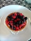 Süßes Frucht tarte lizenzfreies stockbild