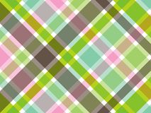 Süßes grünes und rosafarbenes Plaid Stockfotografie