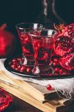 Süßes Granatapfelcocktail lizenzfreie stockfotografie